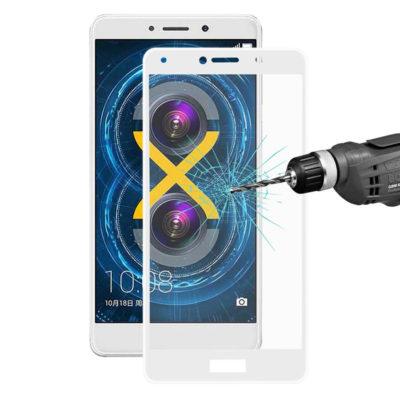 Huawei Honor 6X Täysin Peittävä Suojalasi Valkoinen