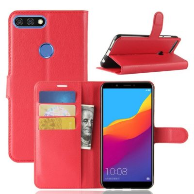 Huawei Honor 7C Lompakkokotelo Punainen
