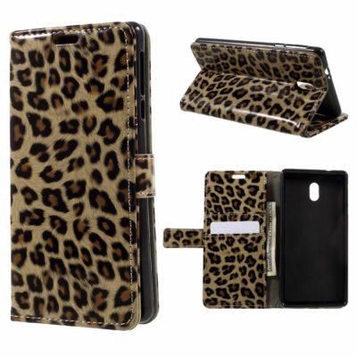 Nokia 3 Lompakko Suojakotelo Leopardi
