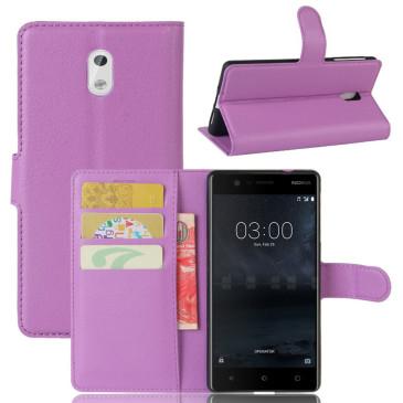 Nokia 3 Lompakkokotelo Suoja Violetti