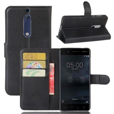 Nokia 5 Suojakotelo Musta Lompakko