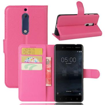 Nokia 5 Suojakotelo Pinkki Lompakko