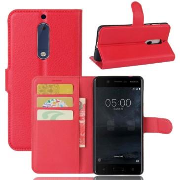 Nokia 5 Suojakotelo Punainen Lompakko