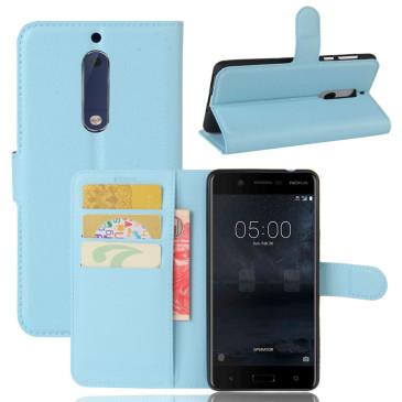 Nokia 5 Suojakotelo Vaaleansininen Lompakko