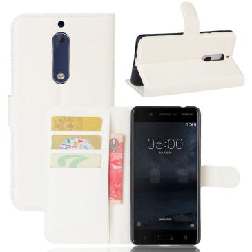 Nokia 5 Suojakotelo Valkoinen Lompakko
