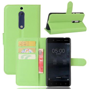 Nokia 5 Suojakotelo Vihreä Lompakko
