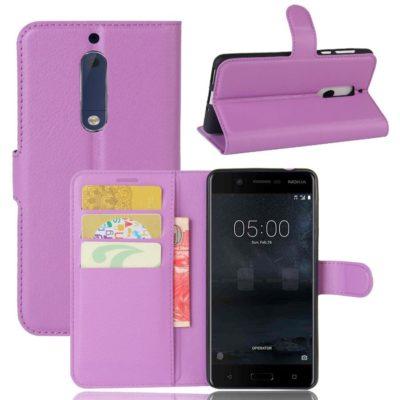 Nokia 5 Suojakotelo Violetti Lompakko