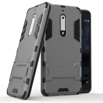 Nokia 5 Suojakuori 2-osainen Harmaa