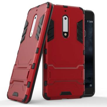 Nokia 5 Suojakuori 2-osainen Punainen