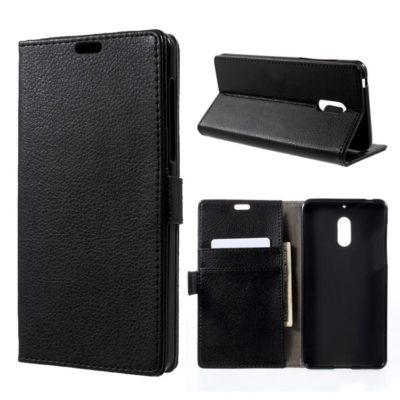 Nokia 6 Lompakko Suojakotelo Musta