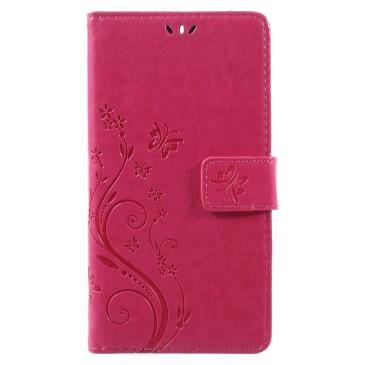 Nokia 6 Lompakkokotelo Kukka Pinkki