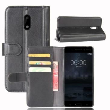 Nokia 6 Nahkakotelo Musta Lompakko