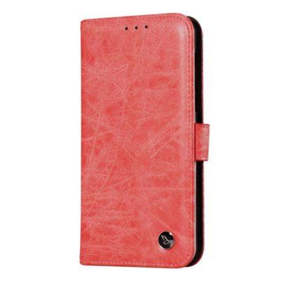 Nokia 6 Nahkakotelo Retro Punainen