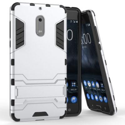 Nokia 6 Suojakuori 2-osainen Hopea