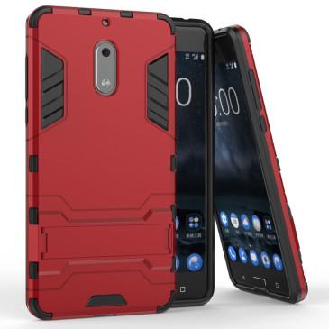 Nokia 6 Suojakuori 2-osainen Punainen