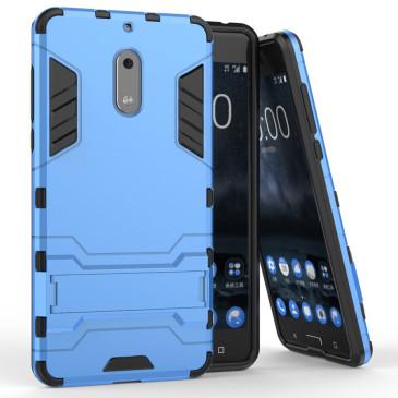 Nokia 6 Suojakuori 2-osainen Vaaleansininen