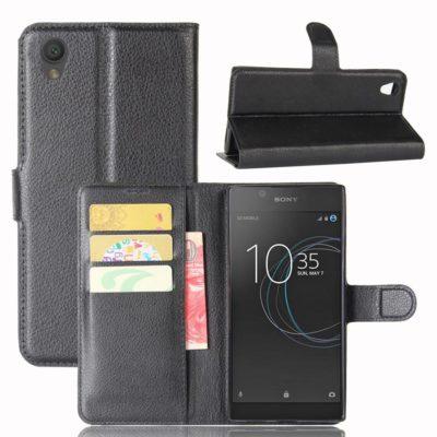 Sony Xperia L1 Suojakotelo Musta Lompakko