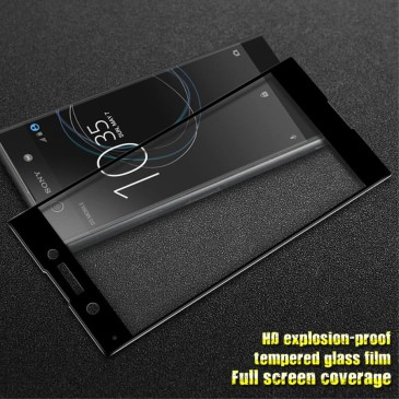 Sony Xperia XA1 Täysin Peittävä Suojalasi Musta