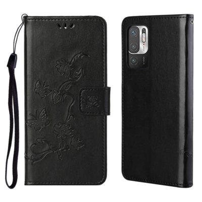 Xiaomi Redmi Note 10 5G Suojakotelo Kukka Musta