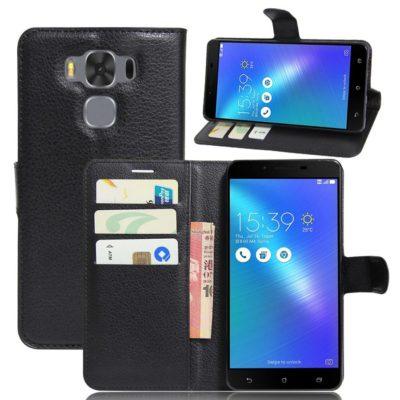 Asus Zenfone 3 Max 5.5″ Lompakkokotelo Musta