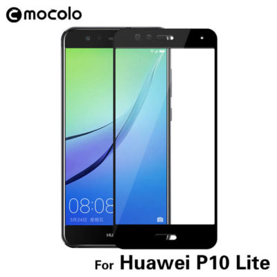 Huawei P10 Lite Täysin Peittävä Suojalasi Musta