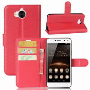 Huawei Y6 (2017) Lompakkokotelo Punainen