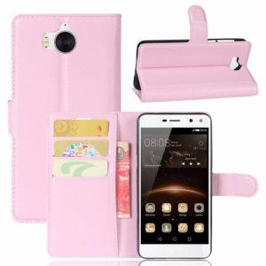 Huawei Y6 (2017) Lompakkokotelo Vaaleanpunainen