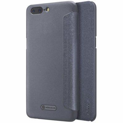 OnePlus 5 Kotelo Nillkin Sparkle Musta
