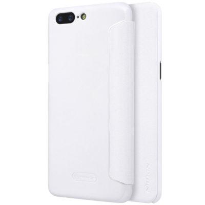 OnePlus 5 Kotelo Nillkin Sparkle Valkoinen