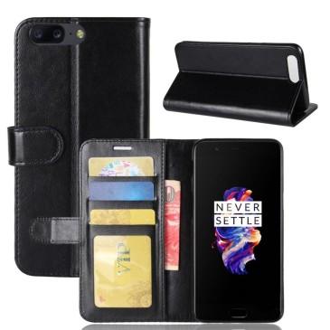 OnePlus 5 Lompakko Suojakotelo Musta