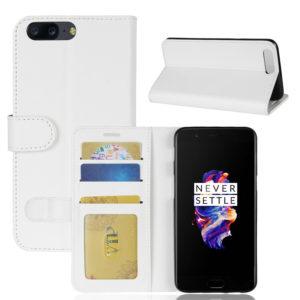 OnePlus 5 Lompakko Suojakotelo Valkoinen