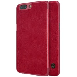 OnePlus 5 Suojakotelo Nillkin Qin Punainen