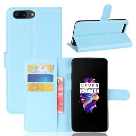 OnePlus 5 Suojakotelo Sininen Lompakko
