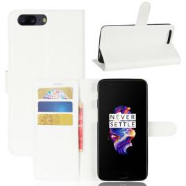 OnePlus 5 Suojakotelo Valkoinen Lompakko