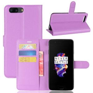 OnePlus 5 Suojakotelo Violetti Lompakko