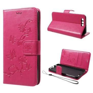 Huawei Honor 9 Suojakotelo Perhonen Pinkki