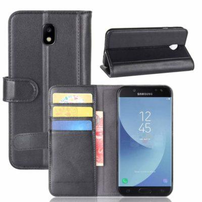 Samsung Galaxy J5 (2017) Lompakkokotelo Musta Nahka
