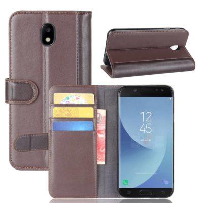 Samsung Galaxy J5 (2017) Lompakkokotelo Ruskea Nahka
