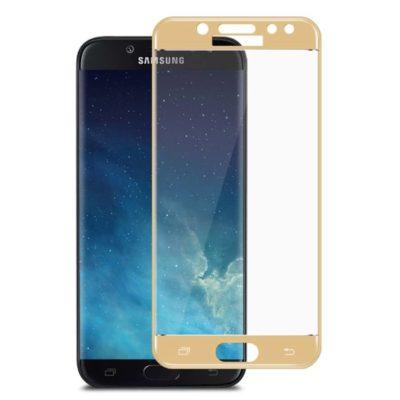 Samsung Galaxy J5 (2017) Täysin Peittävä Suojalasi Kulta