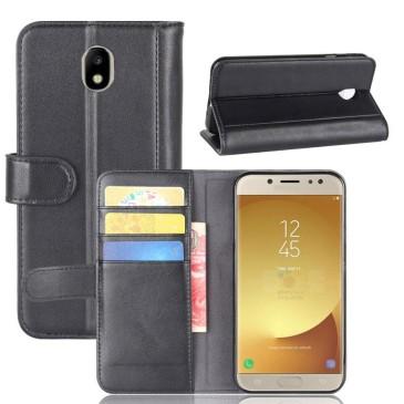 Samsung Galaxy J7 (2017) Nahkakotelo Musta