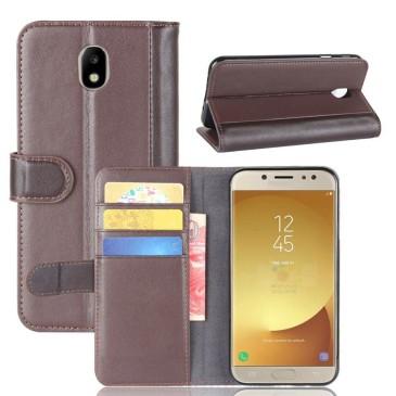 Samsung Galaxy J7 (2017) Nahkakotelo Ruskea