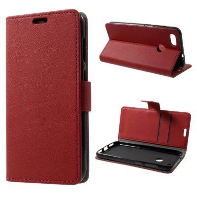 Huawei P9 Lite Mini Lompakkokotelo Punainen