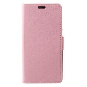 Huawei P9 Lite Mini Lompakkokotelo Vaaleanpunainen
