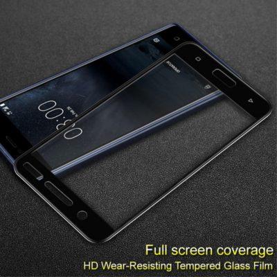 Nokia 5 Täysin Peittävä Näytön Suojalasi IMAK Musta