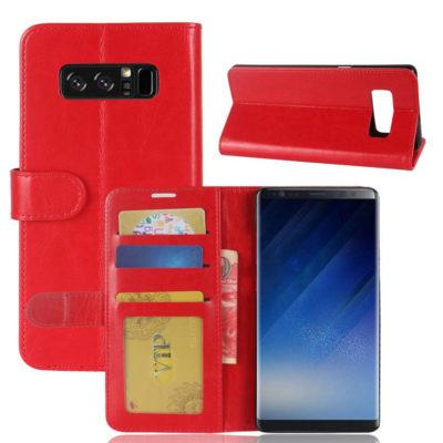 Samsung Galaxy Note 8 Lompakkokotelo Punainen