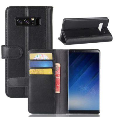 Samsung Galaxy Note 8 Nahkakotelo Musta