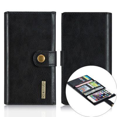 Apple iPhone 6 / 6S Nahkakotelo DG.MING Lompakko Musta