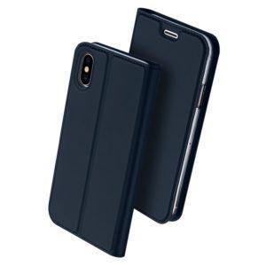 Apple iPhone X / Xs Kotelo Dux Ducis Tummansininen