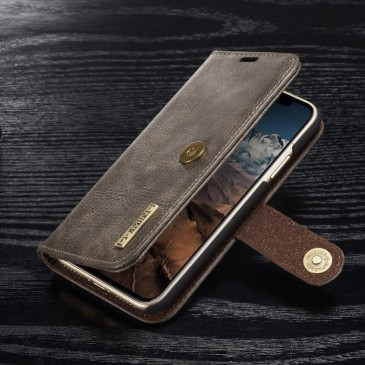 Apple iPhone X Lompakkokotelo DG.MING Harmaa