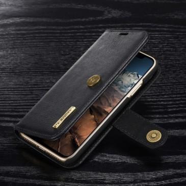 Apple iPhone X Lompakkokotelo DG.MING Musta